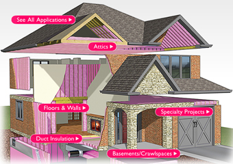 Professional insulation installation,  roof repair and remodeling for your home by Seagate