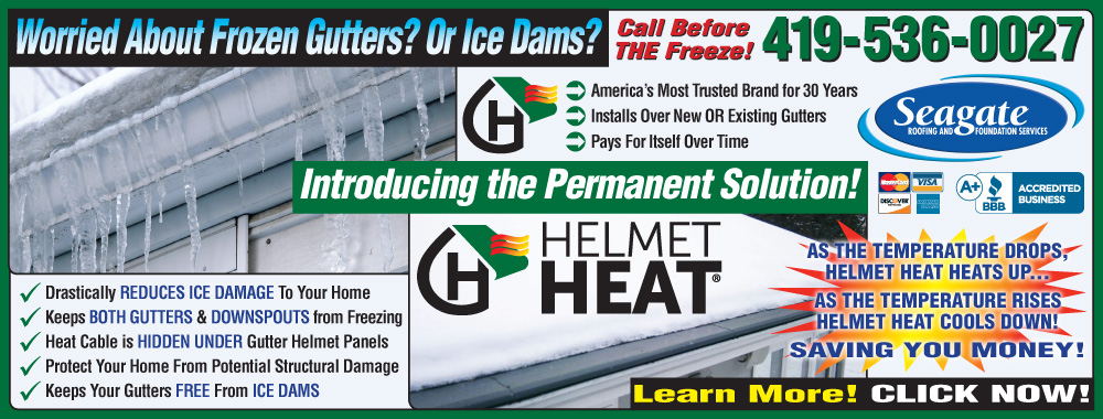 Seagate Roofing and Foundation Services - Gutter Helmet Heat