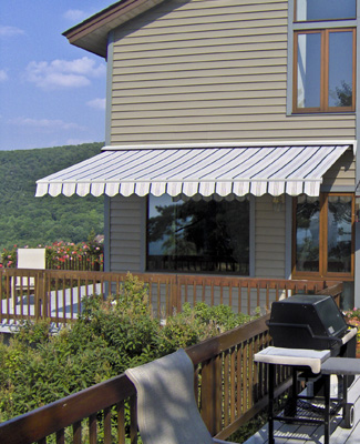 SunShade Retractable Awning Outdoor Living by Gutter Helmet