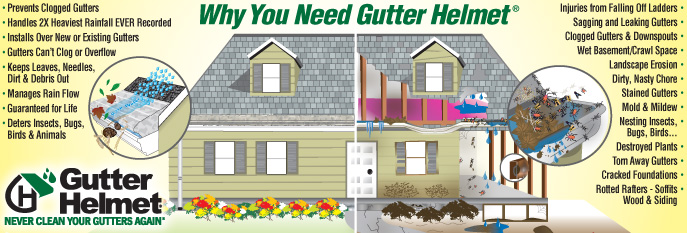 Why you need Gutter Helmet gutter protection - gutter guards